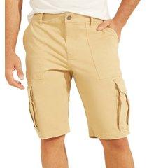 guess men's carter twill cargo shorts