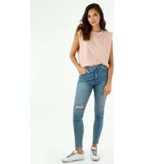 jean para mujer tennis, jeans jegging tiro alto  plano cintura con pretina