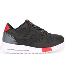 zapatilla negra fila euro jogger