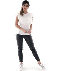 blusa manga sisa casual - mujer