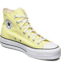 ctas lift hi lt zitron/white/black sneakers skor gul converse