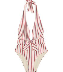 brooklyn stripe one-piece swimsuit