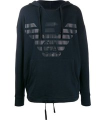 emporio armani heren hoodie logo - black