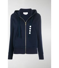 thom browne 4-bar compact double-knit hoodie