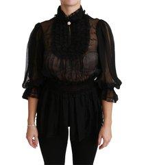 lace sheer blouse shirt silk top