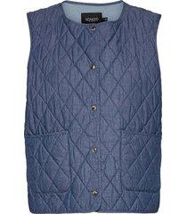 slalf waistcoat vests padded vests blå soaked in luxury