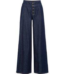 jeans a palazzo in cotone biologico con bottoni (blu) - rainbow