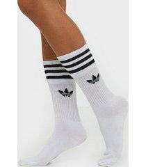 adidas originals solid crew sock strumpor vit