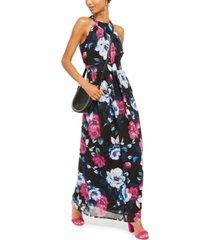 inc floral-print halter maxi dress, created for macy's