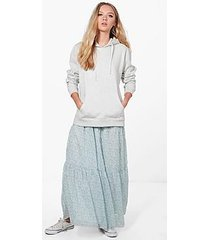 nicole layered maxi skirt
