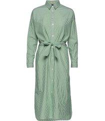 clean shirt dress with press buttons knälång klänning grön scotch & soda