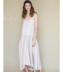 sukienka beżowa na ramiączka