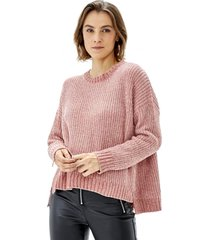 sweater chenille mujer palo rosa corona