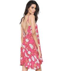 vestido my favorite thing(s) curto pitaya rosa - kanui