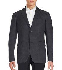 speckled plaid blazer