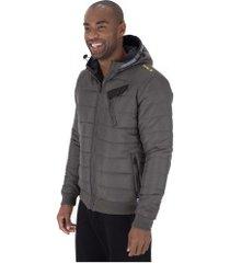 jaqueta com capuz fatal sublimada 9454 - masculina - cinza escuro