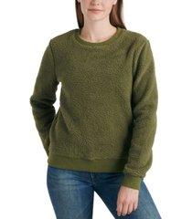 lucky brand sherpa sweatshirt