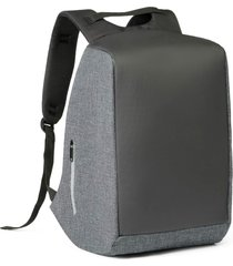 mochila anti-furto para notebook safe topget preto e cinza mesclado