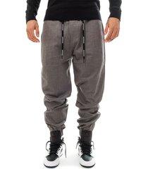 calvin klein pantaloni tuta uomo mix media wool nylon j30j313142.005