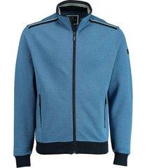 baileys vest met rits katoen blauw 102237/22