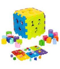 brinquedo merco toys cubo didático verde/azul