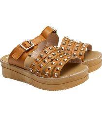 sandalia de cuero suela valentia calzados malena