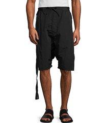 nylon drop-crotch shorts