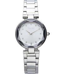 orologio solo tempo con cinturino e cassa in acciaio silver per donna