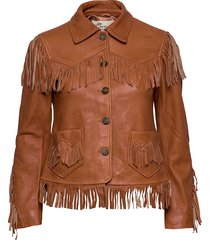 the leather jacket läderjacka skinnjacka brun odd molly