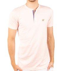 camiseta fondo entero con perilla en contraste rosado claro ref. 107021119