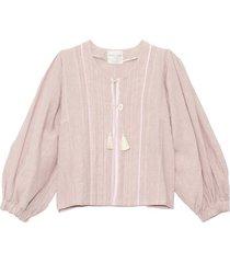 linen viscose jacket in pink seashell