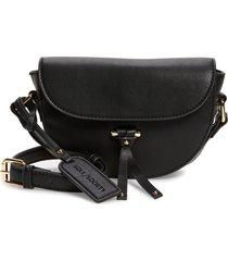 sole society lezar faux leather crossbody bag - black