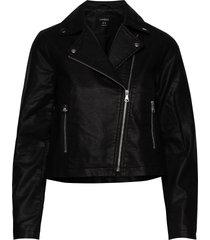 jacket biker läderjacka skinnjacka svart lindex