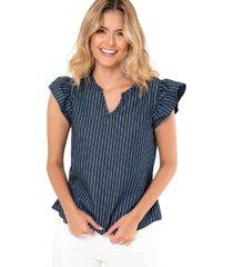 blusa denim azul ragged pf51110926