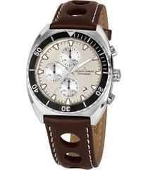 reloj 1-2041d masculino marron jacques lemans
