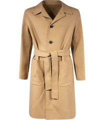 ami alexandre mattiussi single-breasted belted coat