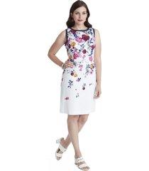 vestido strass en escote blanco lorenzo di pontti