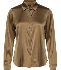 3176 - latia overhemd met lange mouwen bruin sand