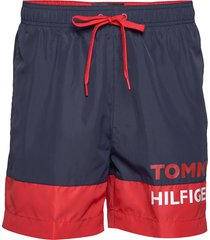 sf medium drawstring zwemshorts blauw tommy hilfiger