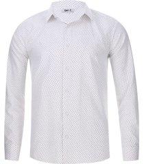 camisa cuello mini puntos color blanco, talla s