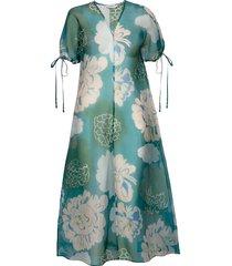 henkäys pioni dress knälång klänning grön marimekko