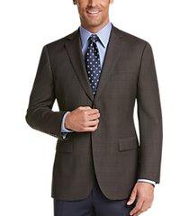 pronto uomo platinum modern fit sport coat brown plaid