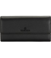 collins pebbled-leather continental wallet