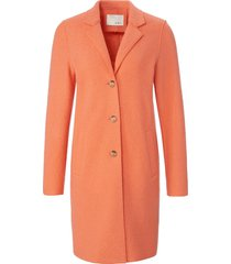 lange jas in recht model reverskraag van oui oranje