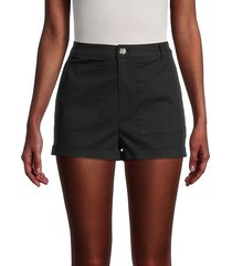 bb dakota women's field research shorts - black - size 6