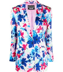 boutique moschino blazer com estampa floral - branco