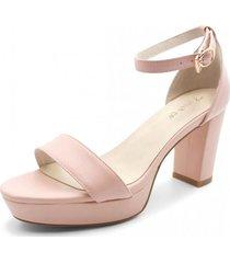 sandalia cuero amazona rosado toffy co.