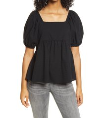 women's bp. babydoll tunic top, size x-large - black