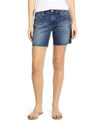 women's ag becke cutoff denim shorts, size 29 - blue