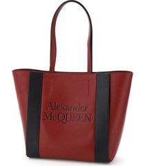 alexander mcqueen small signature tote bag